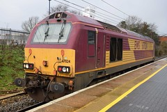 67024 (Lukas31 Transport Photography) Tags: railway trains stevenage ews class67 67024