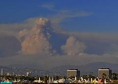Aug2009Firestorm (mcshots) Tags: california summer sky usa foothills mountains clouds view glendale smoke stock burning socal blaze mcshots 2009 mdr firestorm losangelescounty stationfire