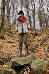 Ustron Walk (Stimoroll) Tags: trees mountains stone forest stream poland hills atumn silesia slask alicja beskidy ustron beskid besid popawska cityofpoland