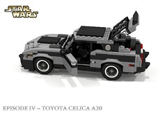 StarWars Episode IV - A New Hope - Toyota Celica A20 Promotional Car (lego911) Tags: auto classic film car japan movie japanese star starwars model lego render 98 toyota vehicle prize wars gt 1970s 1977 promotional coupe challenge cad lugnuts a20 celica povray moc anewhope ldd 2015 miniland fastack lego911 theforceawakens thestarwarsawakens