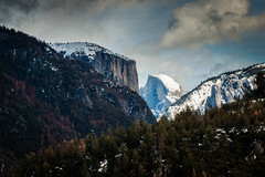 yosemite- half dome (supermansblanket1) Tags: california winter snow canon landscape nationalpark yosemite halfdome canoneosrebelt1i efs1585mmf3556isusm