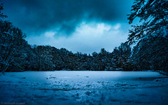 Frozen lake. (Chris Steinert) Tags: blue winter lake snow cold ice landscape frozen nikon long exposure hdr d5000