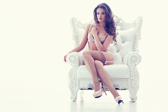 Beautiful alluring young woman in sexy lingerie sitting in luxury armchair (tigercop2k3) Tags: portrait woman white sexy girl beautiful beauty fashion panties lady female hair high model glamour shoes long pretty sitting breast slim underwear legs body antique bra young makeup posing lingerie sensual attractive sexual brunette armchair pantyhose luxury isolated caucasian russianfederation unerwear lingeries