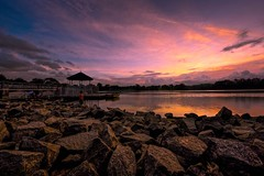 The Beginning Of The End (Anna Kwa) Tags: eve sunset sky nature clouds reflections landscape dawn nikon singapore day dusk memories dream beginning shore experience end d750 always moment my lowerpeircereservoir afszoomnikkor1424mmf28ged annakwa