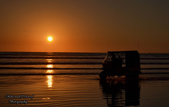 Seaview Beach, Karachi (Shehzaad Maroof Khan) Tags: pakistan light sunset sun reflection golden nikon waves glow shine rickshaw karachi clifton sindh seaview