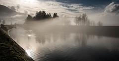 Ghostly Canal (maytag97) Tags: d750 nikon maytag97 waterway river canal fog mist bridgeofthegods surreal