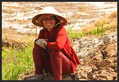 At rest (rachFNQ) Tags: portrait smiling rural happy southeastasia vietnamese faces farming vietnam farmer ricepaddies mekongdelta ricefields rurallife duckfarmer