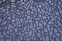 """Nomade"" by Jaume Plensa - Pappajohn Sculpture Park, Des Moines, Iowa (Tony Webster) Tags: sculpture art us words unitedstates letters iowa publicart alphabet sculpturegarden desmoines artexhibit sculpturepark nomade locuststreet jaumeplensa grandavenue pappajohn centraliowa pappajohnsculpturepark johnandmarypappajohnsculpturepark"