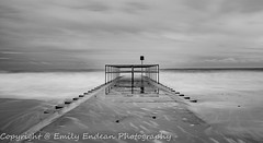 Long exposure in mono (Emily_Endean_Photography) Tags: longexposure winter sea seascape art beach water architecture mono coast seaside colours january dorset groyne bournemouth boscombe jurassiccoast