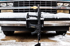 Accurate Armory AR-15 SBR and CRKT Kangee Tomahawk (S.Dobbins) Tags: snow chevrolet arms rifle arc battle armory silverado defense development ar15 accurate bcm centurion aac tomahawk crkt tactical fortis larue sbr pdw c1500 aimpoint arisaka mvb magpul elzetta kangee magpod