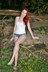 Teegan Photo Shoot After Dark (PhotoAmateur1) Tags: pink blue autumn red woman white black tree sexy green feet halloween beautiful beauty face crimson grass fashion female night contrast scarlet dark hair neck outside foot book photo outfit scary model glamour eyes colorful toes long pretty shoot tank arms legs head vampire top feminine background character gorgeous chest femme victim style lips dracula redhead story jeans fantasy cover barefoot attractive horror denim session shorts shoulders lovely cleavage ebook throat slender stylish daisydukes teegan