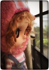 """Love her much... !!  ( custom by me """" Berry """" ) not perfect at all.. Still learning how to custom blythe doll.. Lol.."""