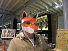 tim in the fox mask (cleanskies) Tags: mask time fox pittriversmuseum