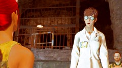 497 (Beth Amphetamines) Tags: wallpaper compound screenshot lab coat goggles redhead doctor synth laboratory faced protective chambers scientist lizzy roslyn covenant vaulttec fallout4