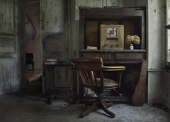 Home entertainment (andre govia.) Tags: flowers urban abandoned window typewriter radio dead demo photography book chair photos decay room ghost down books andre creepy planet derelict decayed decaying urbex decayedbuildings govia andregovia
