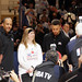 The Curry's - Dell Curry and Stephen Curry at NBA All-Star Weekend Center Court 2016