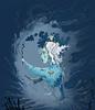 La Demiurge (Stas Rosin) Tags: fiction sky illustration place cartoon dream surreal himmel wolken science special fantasy scifi psychedelic bild dimension oben cosmos wanderer cyberpunk dunkel the seifenblase skurril vimana luftblase
