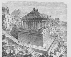 The Mausoleum of Halicarnassus (Restoration) - Ancient Travels c1880 (AndyBrii) Tags: ancient travels 1880 restorations