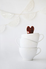 Hide and seek (tatiana_brown) Tags: stilllife white bunny easter chocolate cups canoneos6d