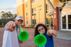 Campus February 2016 067 (FGCU | University Marketing & Communications) Tags: students horns fgcu southvillage vuvuzela sovi photocreditjamesjgreco floridagulfcoastuniversity