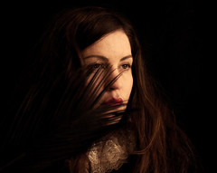 Nowhere To Hide (Maren Klemp) Tags: portrait woman selfportrait painterly black color texture movement expressive dreamy conceptual symbolic fineartphotography darkart evocative fineartphotographer darkartphotography