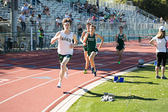 Kent taking the lead for the last lap of the 1600m (Malcolm Slaney) Tags: track paloalto homestead trackandfield 2016 1600m paly