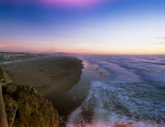 Ocean beach SF. (-Alberto_) Tags: sanfrancisco seascape mediumformat oceanbeach fujiprovia100f pentax6x7