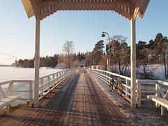 2016 Bike 180: Day 45, March 1 (olmofin) Tags: bridge sea snow ice bicycle finland island helsinki mtb lumi meri 29er polkupyörä seurasaari jää silta 2016bike180