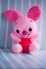 piglet (sugarelf) Tags: pink cute pig character crochet piglet amigurumi worstedweightyarn