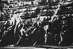 (Bec Gould) Tags: blackandwhite snow texture iceland scree