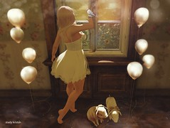 We're strong enough to let it go.. (Sistine Kristan (Sisely) - Toolbox Chicks) Tags: bird fashion pose balloons piggy photography pig blog dress mesh sl secondlife soul anc magical maitreya ibang 8f8 pixicat