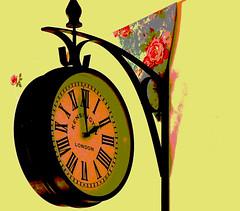 Tea Room Clock (linda.addis) Tags: time posterized sundaytheme flickrlounge