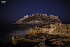 Isla del Fraile (Mariano_V) Tags: longexposure night canon stars noche murcia estrellas nocturna isla 6d largaexposicion fraile guilas nano75