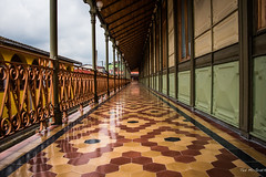 2016 - Mexico - Orizaba - El Palacio de Hierro - 3 of 3 (Ted's photos - Returns Mid May) Tags: tile mexico columns perspective cropped railing vignetting railings floortile orizaba 2016 coveredwalkway pueblomágico orizabaveracruz tedmcgrath pueblosmagicos elpalaciodehierro tedsphotos theironpalace magictownsofmexico tedsphotosmexico elpalaciodehierroorizaba donmanuelcarrillotablas theironpalaceorizaba orizabacityhall donmanuelcarrillotablasorizaba cityhallorizaba
