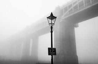 High Level Bridge through the fog