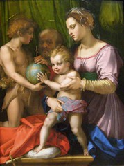 Andrea del Sarto, The Holy Family with the Young Saint John the Baptist, 1528 or 1529 (DeBeer) Tags: newyorkcity art museum painting renaissance metropolitanmuseum holyfamily florentine 1529 mannerism andreadelsarto 1528 1520s 16thcenturyart 16thcenturypainting