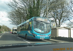 YJ62 JBE ARRIVA 1486  caught with dashcam in Mirfield (Barrytaxi) Tags: photoblog photoaday 365