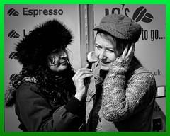 Phone Call (graffpix) Tags: street mobile birmingham candid makeup streetportrait parade harp stpatricksfestival digbeth