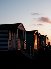 100_8952 (icanhasphoto) Tags: sunset beachhuts whitstable tankertonslopes
