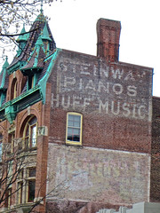 Steinway Pianos, Bethlehem, PA (Robby Virus) Tags: music brick sign wall store pennsylvania ghost ad advertisement faded signage pianos bethlehem huff steinway