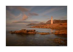 Positioning tower (g.femenias) Tags: sea sky seascape nature landscape rocks mallorca sunsetlight art ndfilter daytimelongexposure sacolniadesantpere