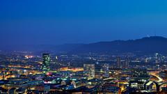 Zurich City (jonas.wagner) Tags: city longexposure blue west art night 50mm switzerland cityscape nightscape f14 zurich sigma hour uetliberg dg hsm zurichwest sigma50mmf14exdghsm sigma50mmf14dghsmart