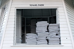 towel desk (kexi) Tags: vacation white holiday window canon turkey grey many may resort towels 2015 instantfave dissymmetry toweldesk