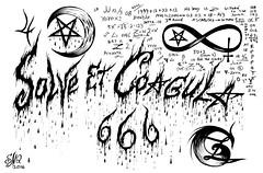 Solve et Coagula (Sofia Metal Queen) Tags: black art sign artwork magic hell 666 hellish blacklight future satanism satanic solve blackmagic solveetcoagula