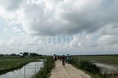 H504_3119 (bandashing) Tags: road street england sky people water field manchester village ditch stuck path walk transport monsoon land remote sylhet bangladesh muddy rains socialdocumentary crude aoa bandashing ratargul