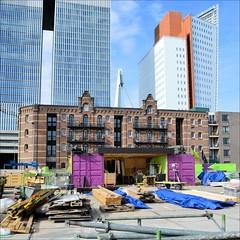 Circular saw, construction site, Rotterdam (Manurva) Tags: netherlands architecture rotterdam kopvanzuid rijnhaven