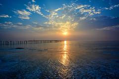 sunset at allapuzha beach ([s e l v i n]) Tags: bridge sunset sea sun india kerala backwaters allepy allapuzha backwatersofkerala keralatourism keralatravel allepybackwaters picturesofkerala selvin
