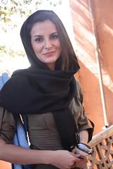 Iran (130) (stevefenech) Tags: people woman black girl beautiful face scarf asia iran steve central persia stephen iranian abyaneh fenech zoroastrian fennock