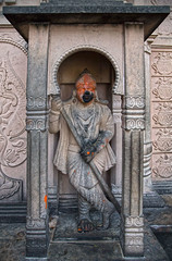 Guardian flanking the entrance to the Hanuman Temple (David Clay Photography) Tags: india temple hanuman guardian ramayana