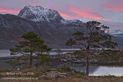 Slioch Gloaming (Shuggie!!) Tags: trees snow mountains water pine landscape scotland highlands rocks williams heather hills karl grasses gloaming torridon westerross zenfolio karlwilliams